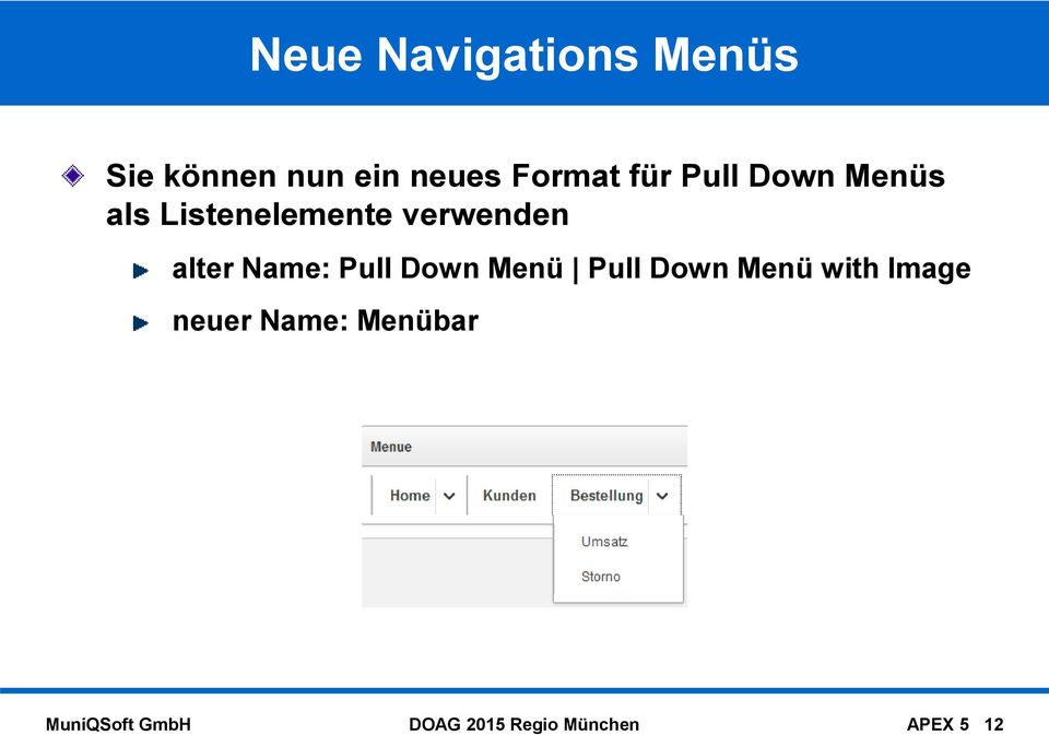 Name: Pull Down Menü Pull Down Menü with Image neuer