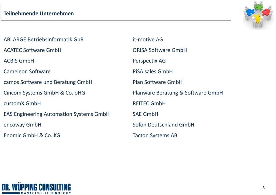 ohg customx GmbH EAS Engineering Automation Systems GmbH encoway GmbH Enomic GmbH & Co.
