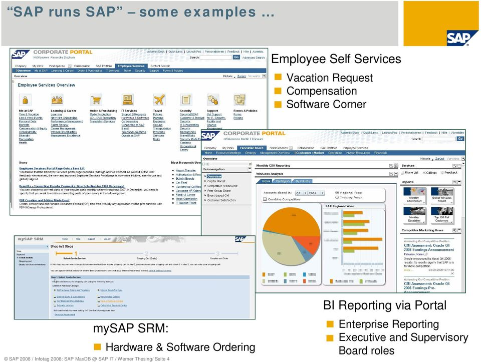 MaxDB @ SAP IT / Werner Thesing/ Seite 4 Hardware & Software Ordering