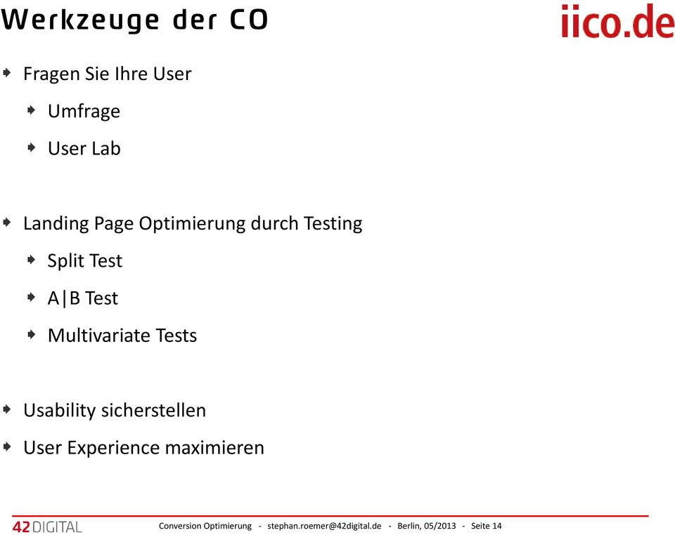 Multivariate Tests Usability sicherstellen User Experience