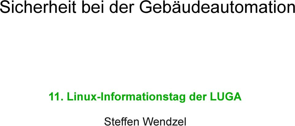 Linux-Informationstag