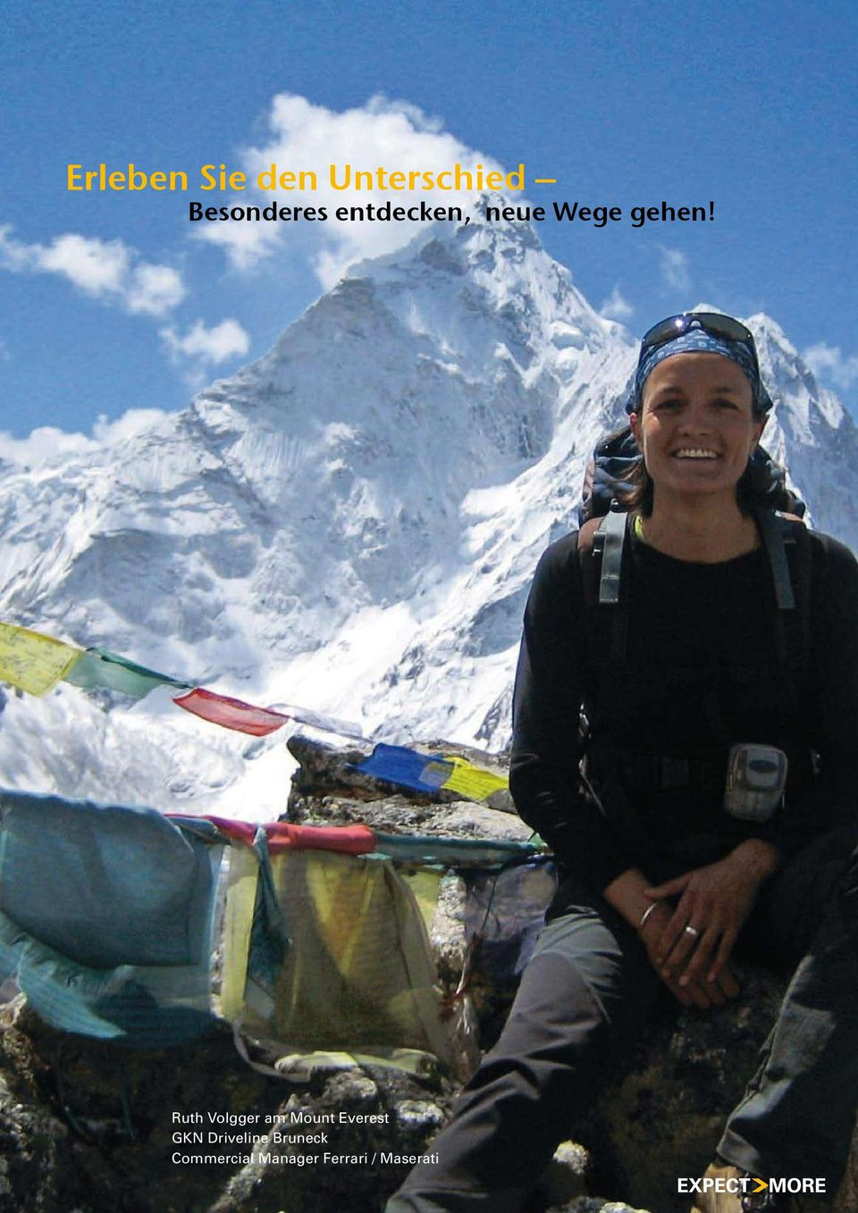 Ruth Volgger am Mount Everest GKN
