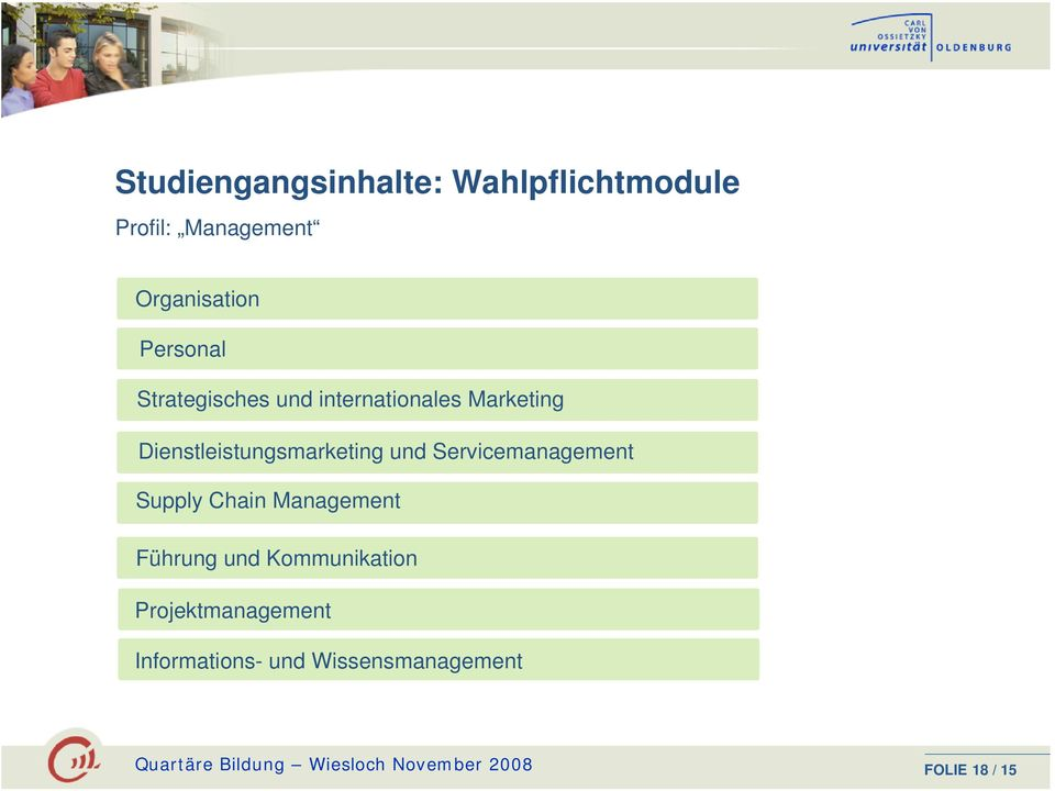 Servicemanagement Supply Chain Management Führung und Kommunikation