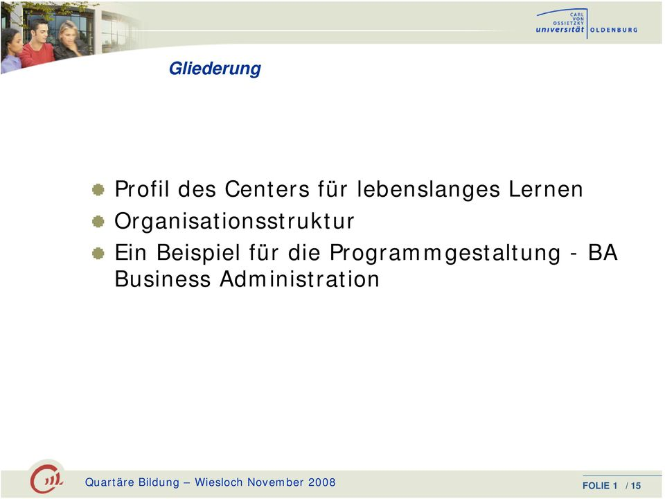 Programmgestaltung - BA Business Administration