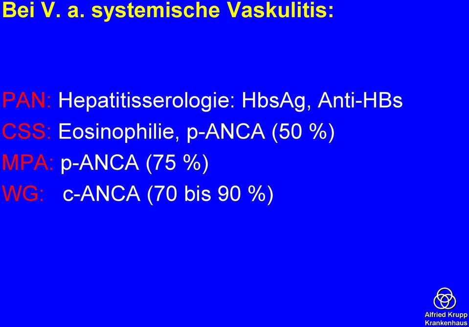 Hepatitisserologie: HbsAg, Anti-HBs
