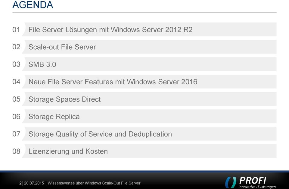 0 04 Neue File Server Features mit Windows Server 2016 05 Storage Spaces Direct