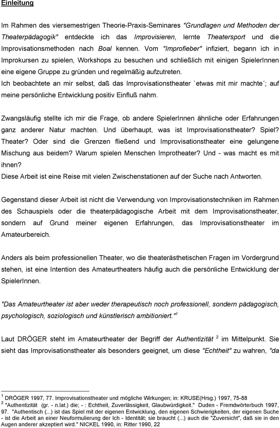 Improvisationstheater - PDF