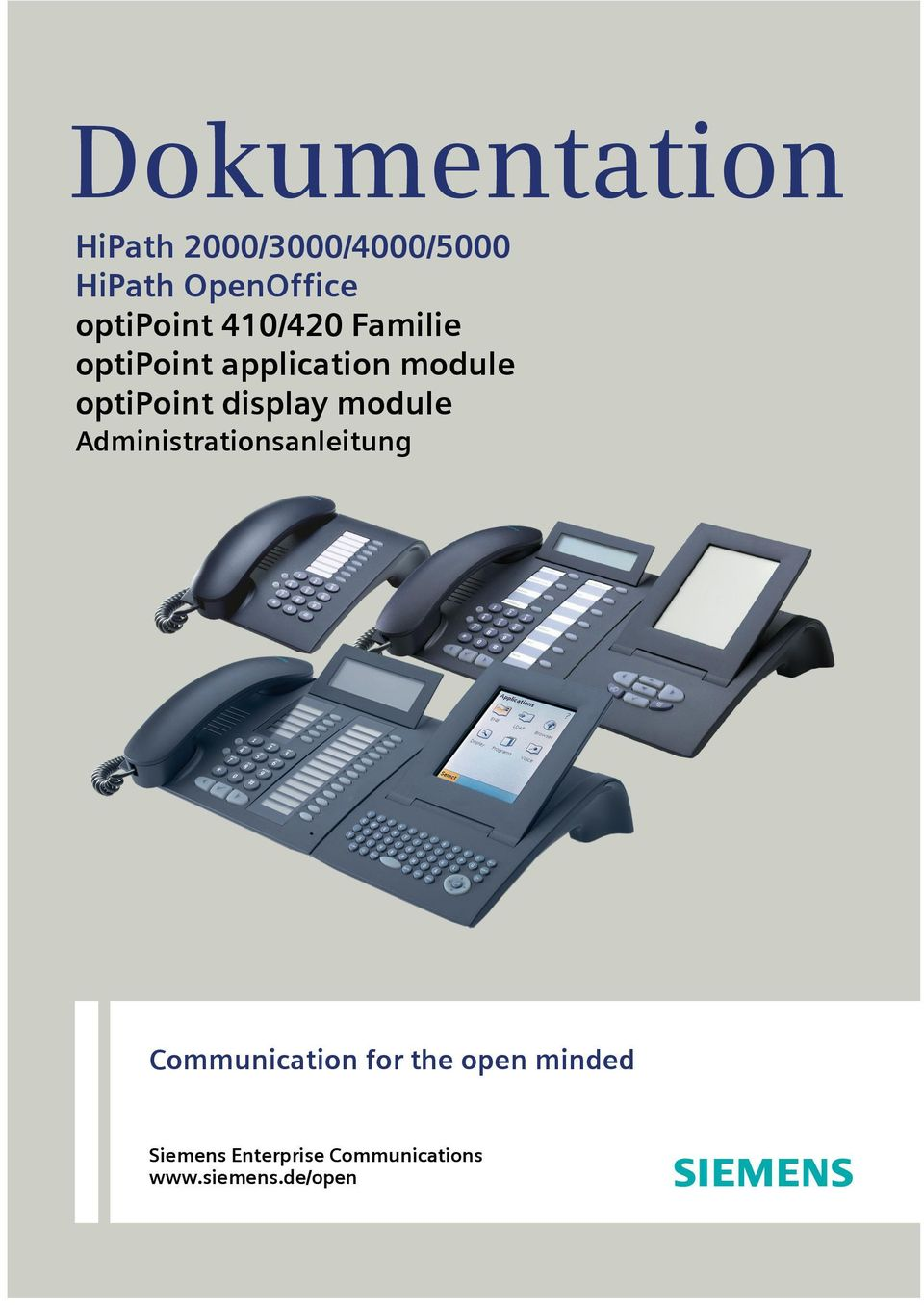 optipoint display module Administrationsanleitung
