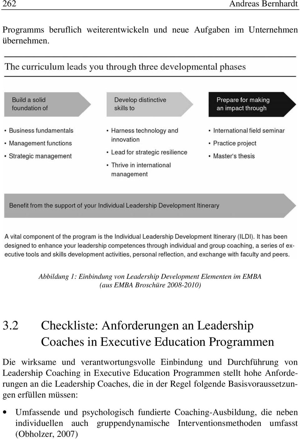 2 Checkliste: Anforderungen an Leadership Coaches in Executive Education Programmen Die wirksame und verantwortungsvolle Einbindung und Durchführung von Leadership
