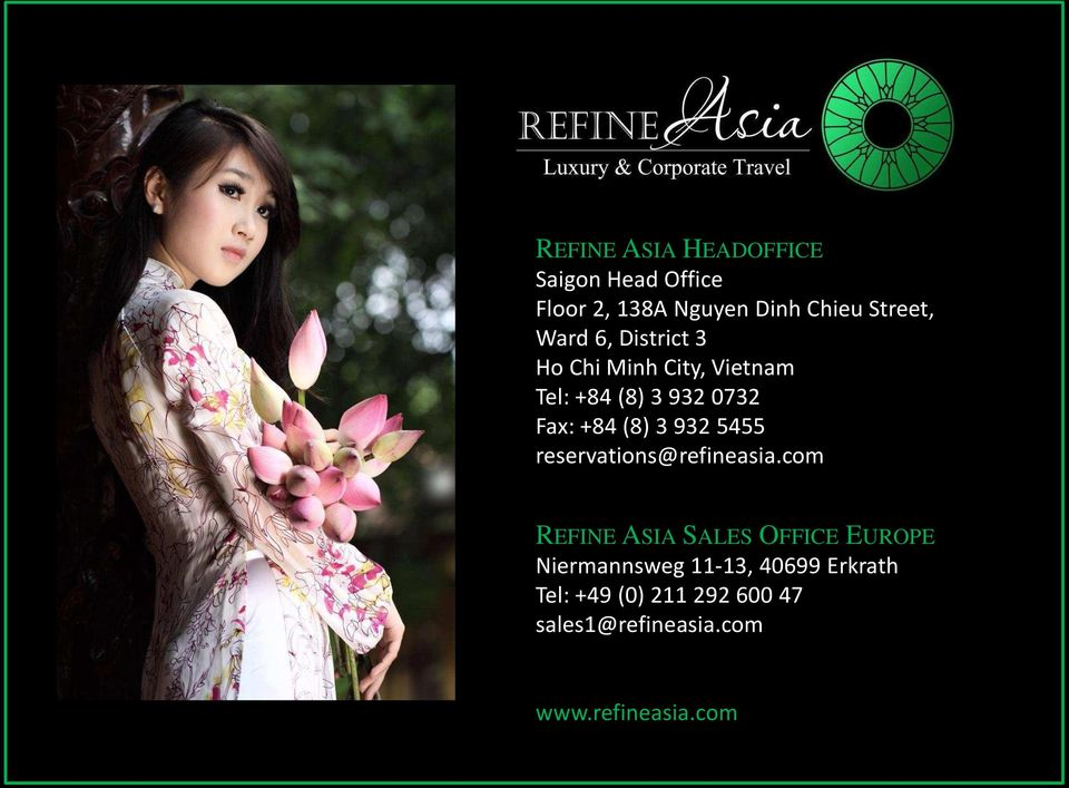 932 5455 reservations@refineasia.