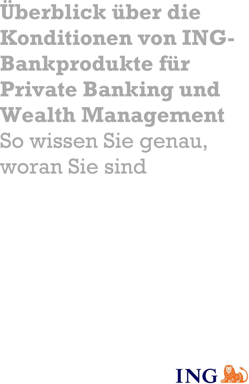 Private Banking und Wealth