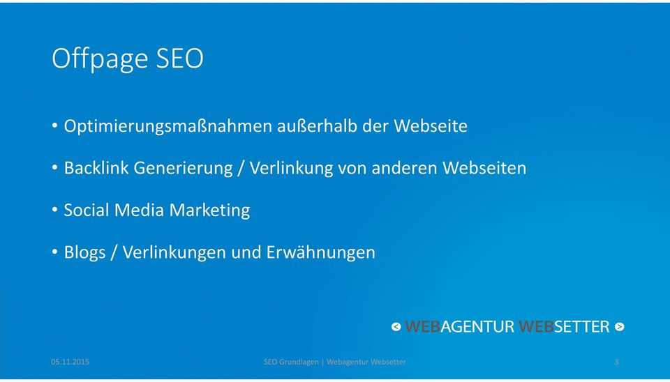 Webseiten Social Media Marketing Blogs / Verlinkungen