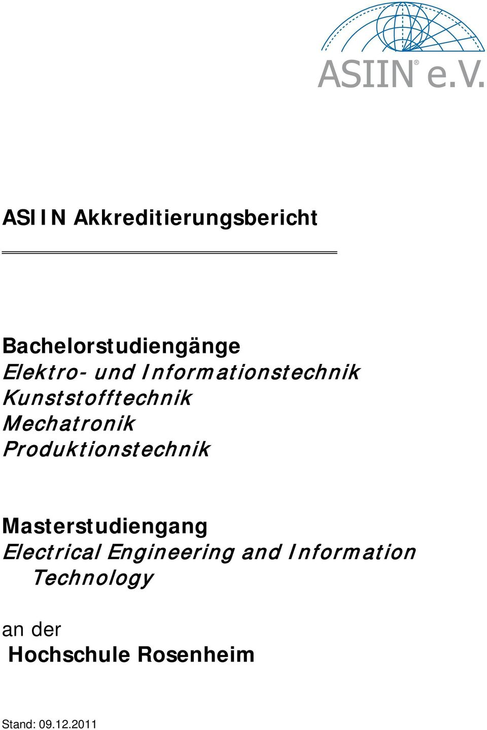 Produktionstechnik Masterstudiengang Electrical Engineering