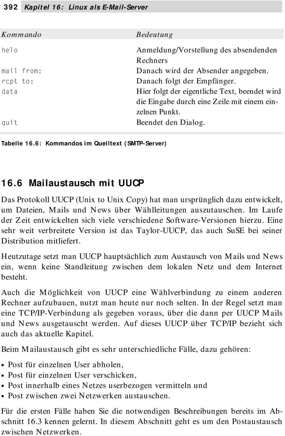 6: Kommandos im Quelltext (SMTP-Server) 16.