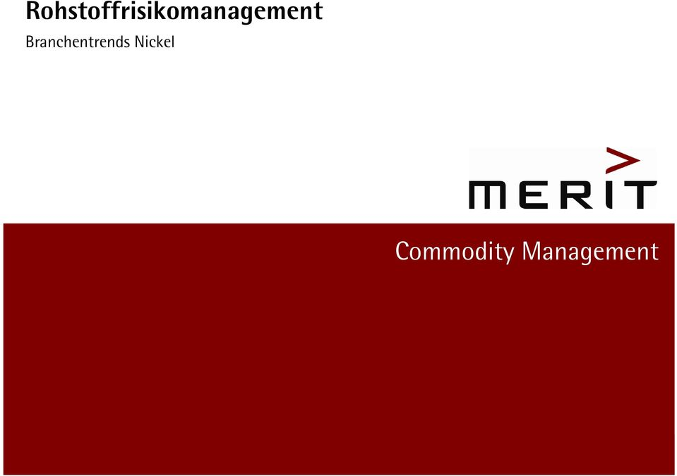 Commodity Management