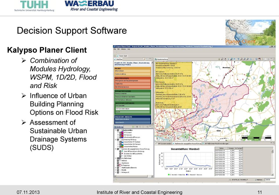 Planning Options on Flood Risk Assessment of Sustainable Urban Drainage