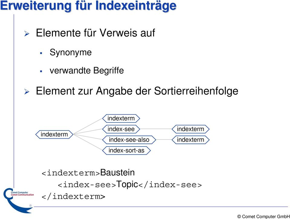 indexterm indexterm index-see index-see-also index-sort-as