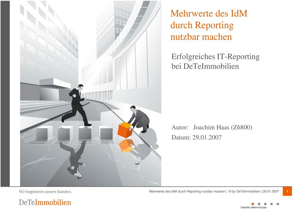 IT-Reporting bei DeTeImmobilien
