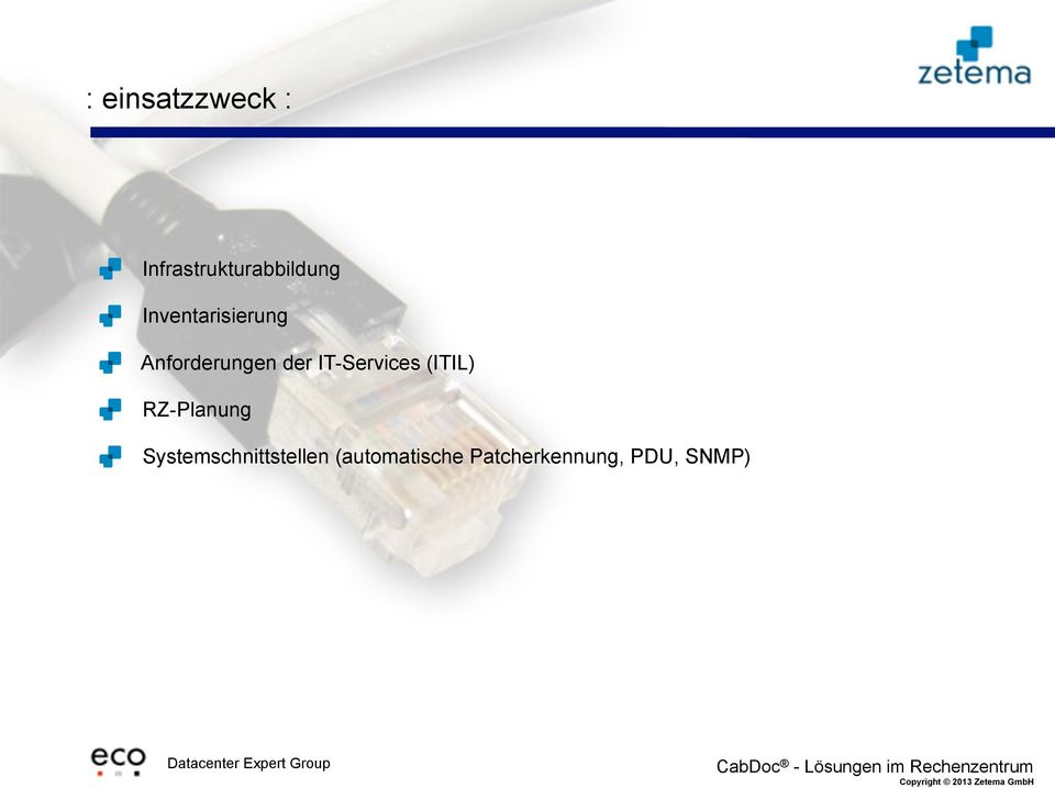 IT-Services (ITIL) RZ-Planung