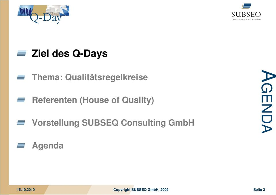 (House of Quality) Vorstellung
