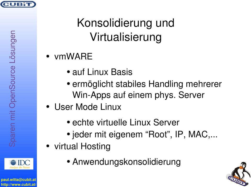 Server User Mode Linux echte virtuelle Linux Server jeder mit
