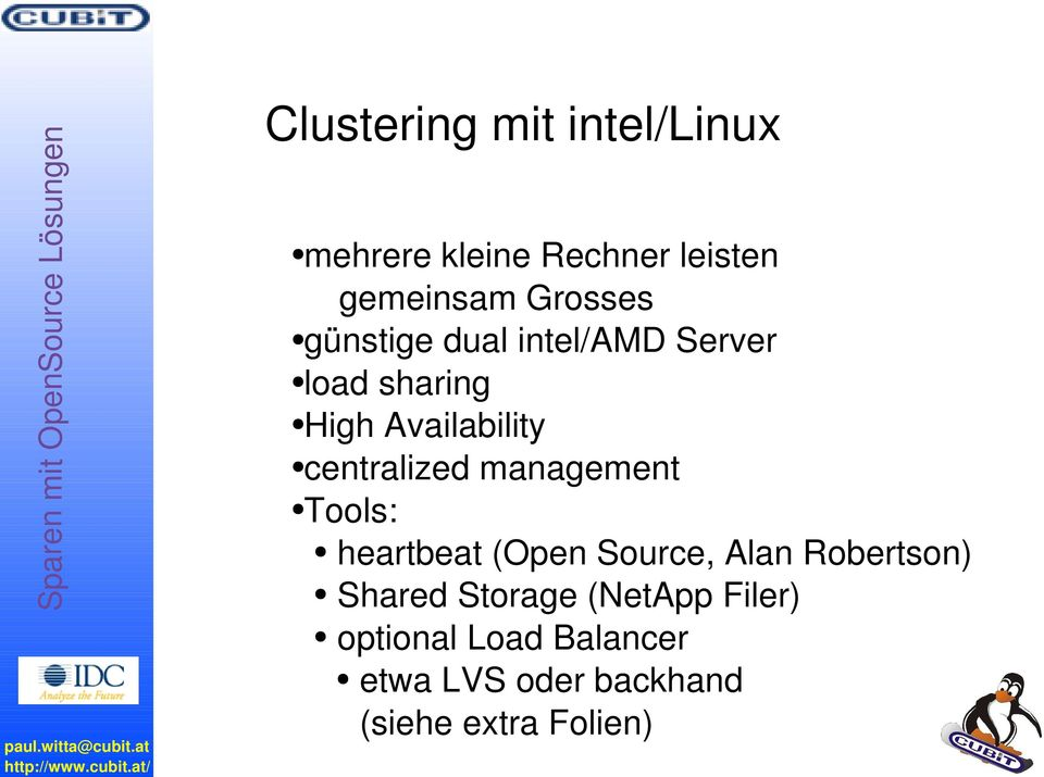 günstige dual intel/amd Server load sharing High Availability centralized
