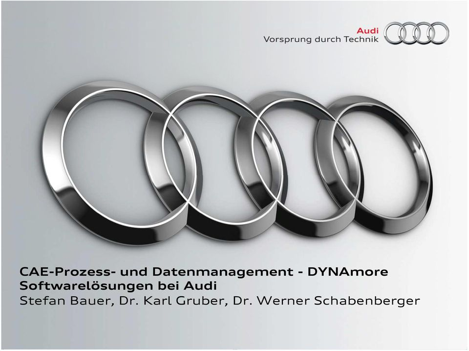 Softwarelösungen bei Audi