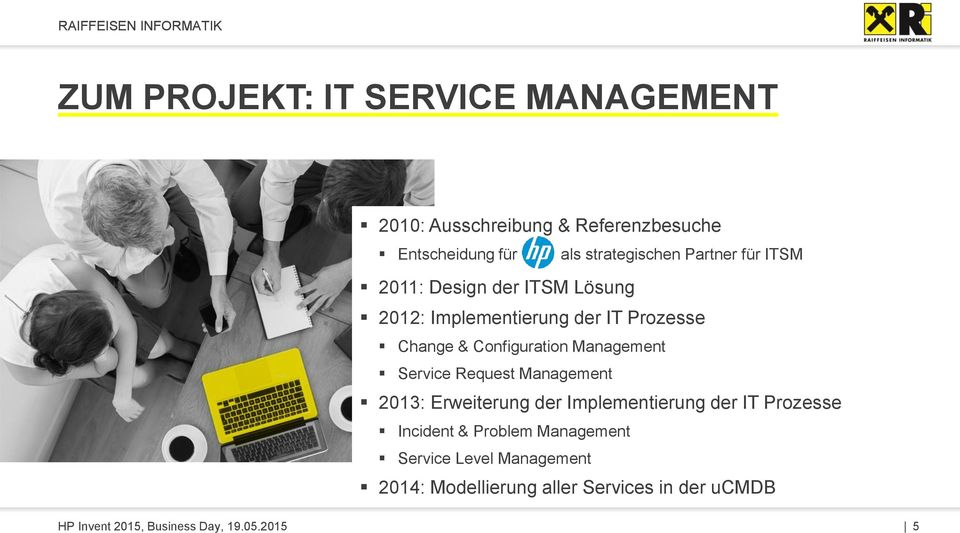 Management Service Request Management 2013: Erweiterung der Implementierung der IT Prozesse Incident & Problem