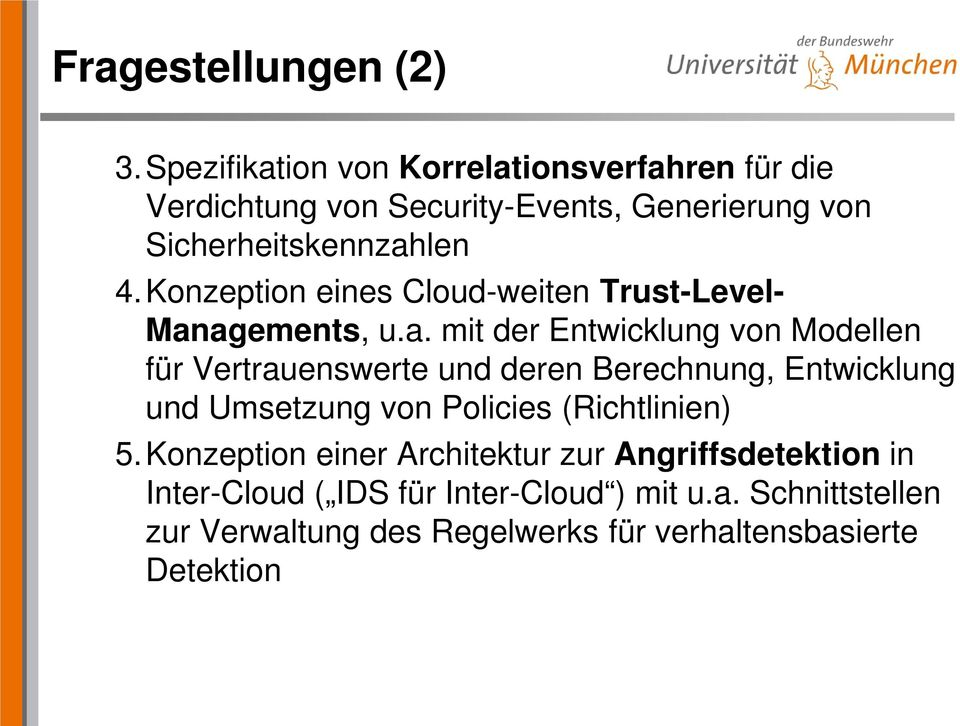 Konzeption eines Cloud-weiten Trust-Level- Man