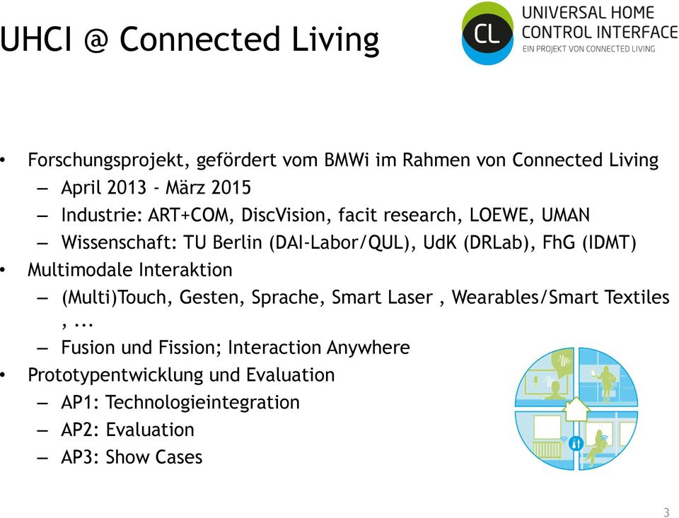 (IDMT) Multimodale Interaktion (Multi)Touch, Gesten, Sprache, Smart Laser, Wearables/Smart Textiles,.