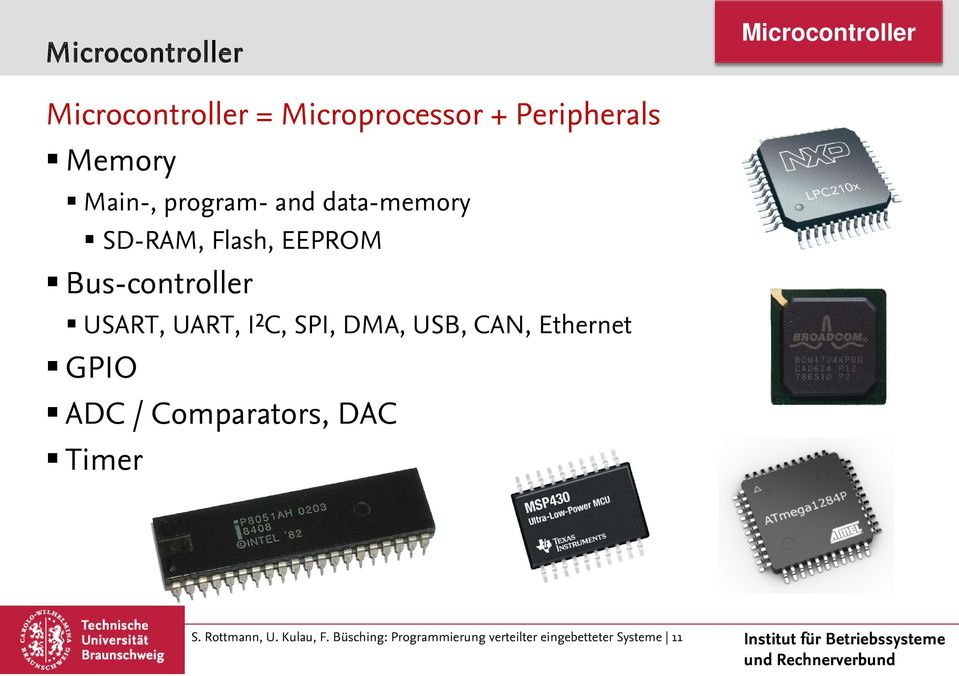 USART, UART, I²C, SPI, DMA, USB, CAN, Ethernet GPIO ADC / Comparators, DAC Timer
