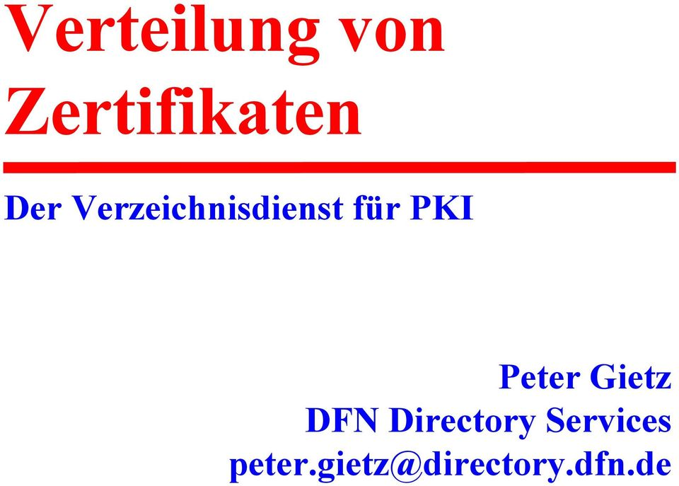 Directory Services peter.gietz@directory.