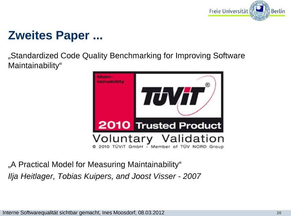 Improving Software Maintainability A Practical