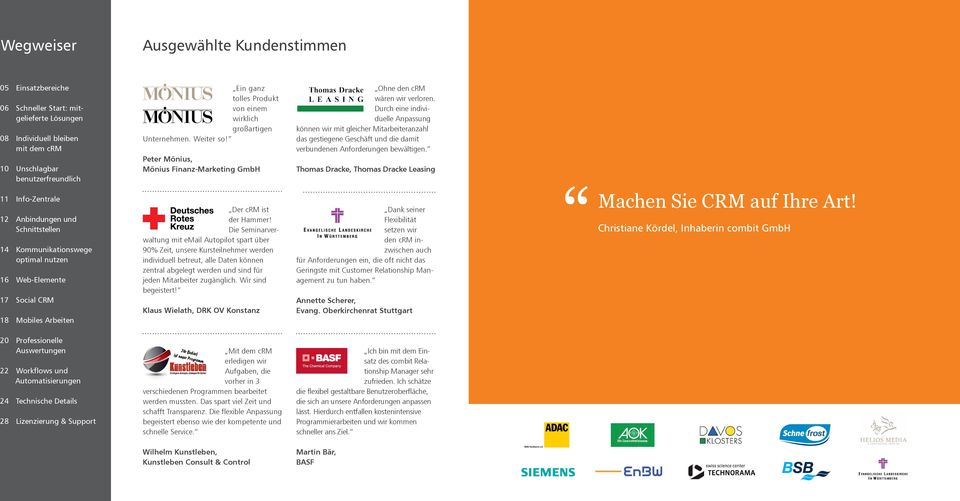 Peter Mönius, Mönius Finanz-Marketing GmbH Der crm ist der Hammer!