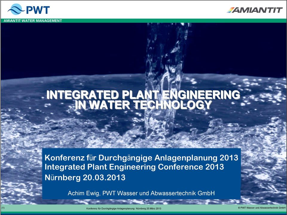 Integrated Plant Engineering Conference 2013