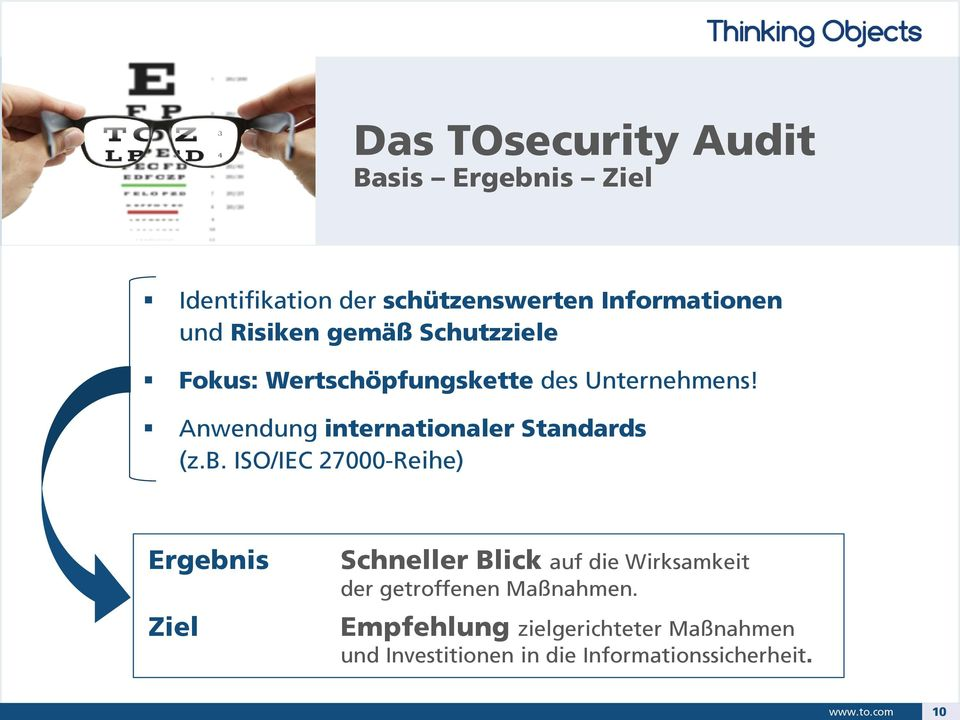 Anwendung internationaler Standards (z.b.