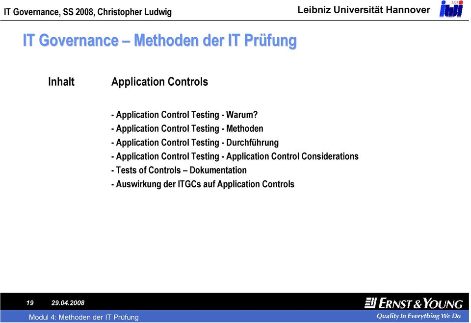 -Application Control Testing -Methoden -Application Control Testing