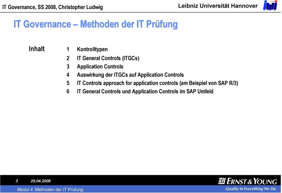 Application 5 IT approach for application controls (am