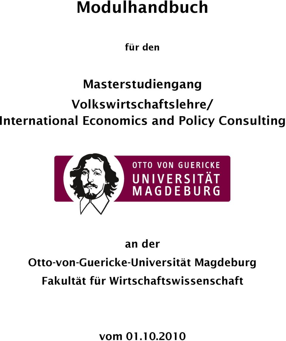Policy Consulting an der