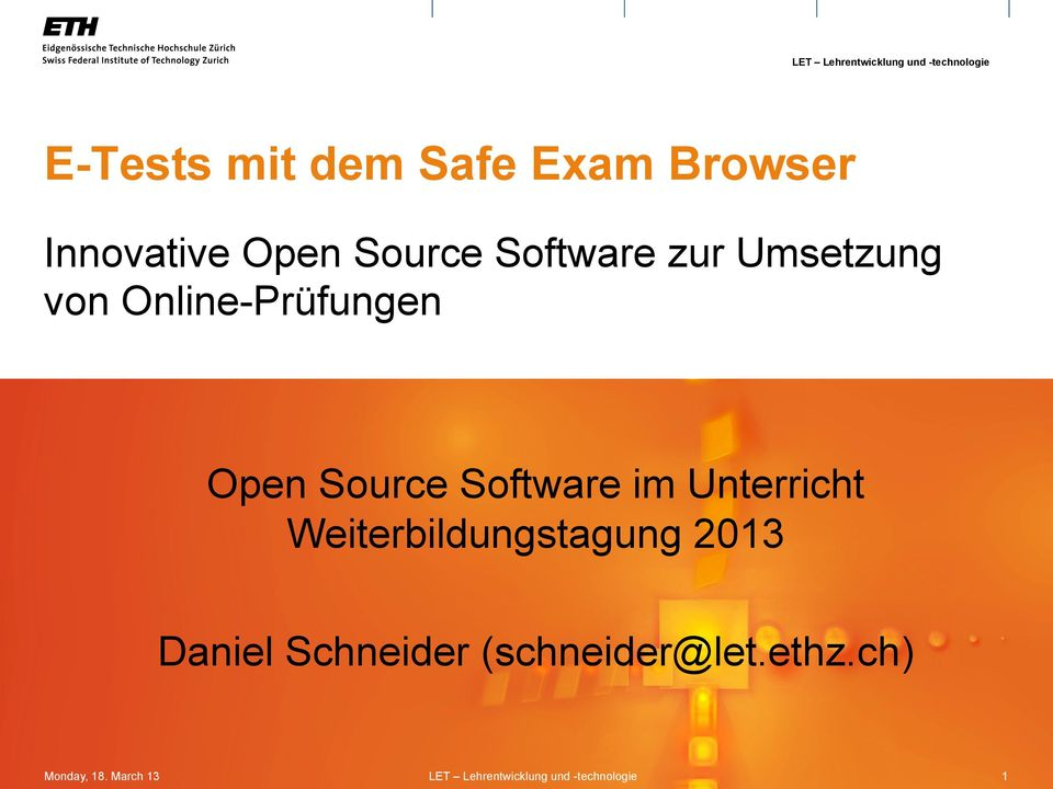 Open Source Software im Unterricht