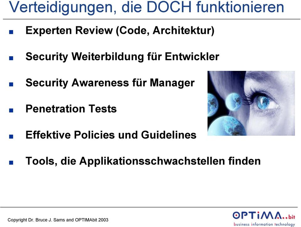 Security Awareness für Manager Penetration Tests Effektive
