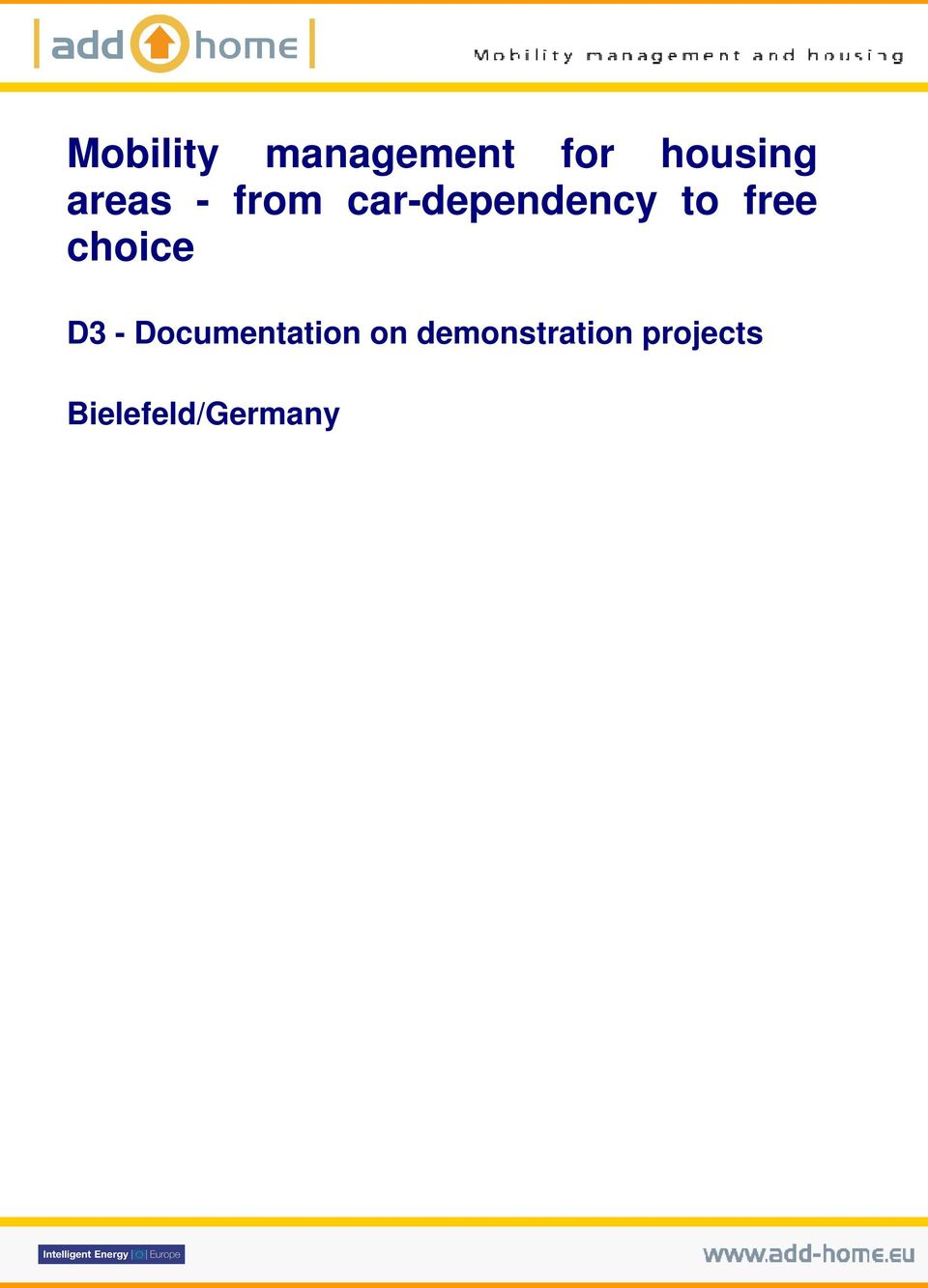 free choice D3 - Documentation on