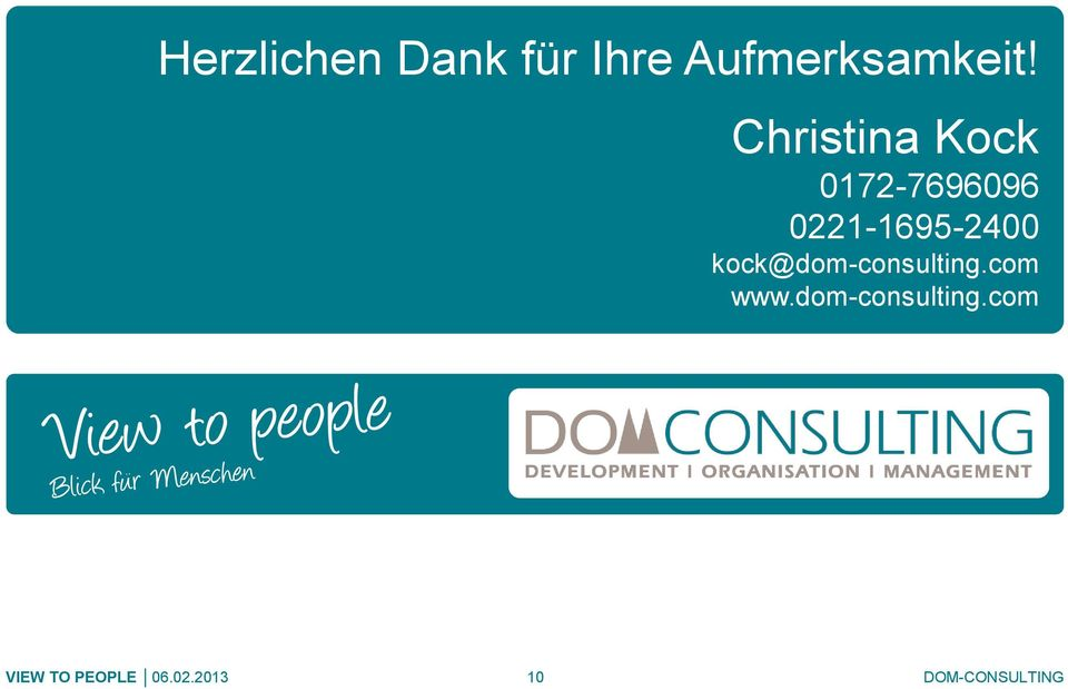0221-1695-2400 kock@dom-consulting.