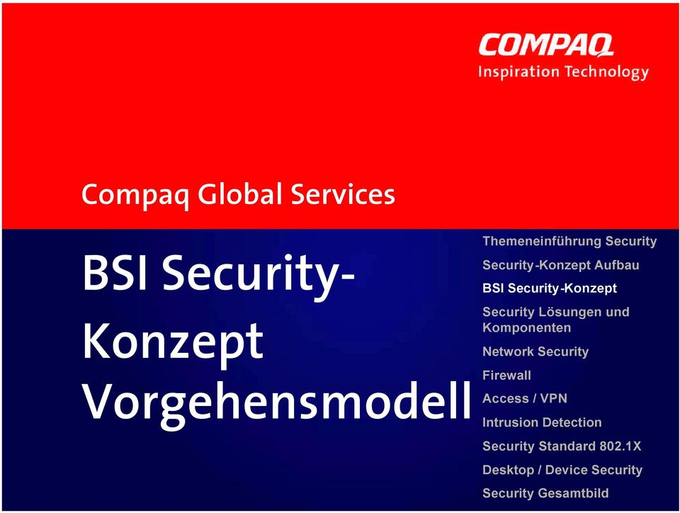 Security Lösungen und Komponenten Network Security Firewall Access / VPN