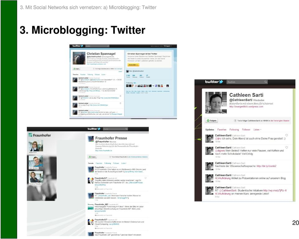 Microblogging: Twitter