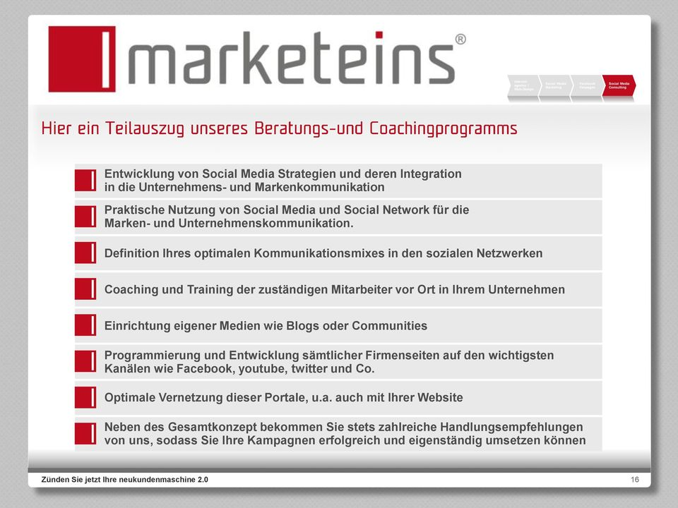 wie Blogs oder Communities Program