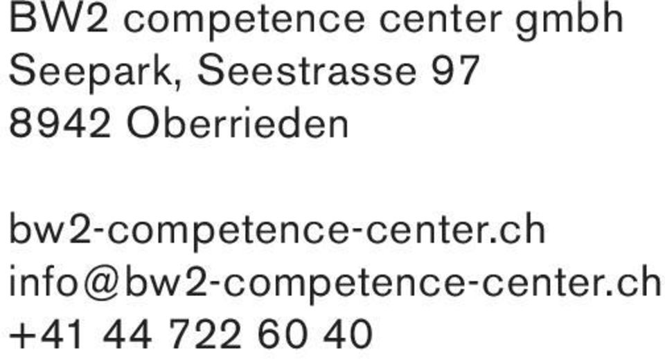 Oberrieden bw2-competence-center.