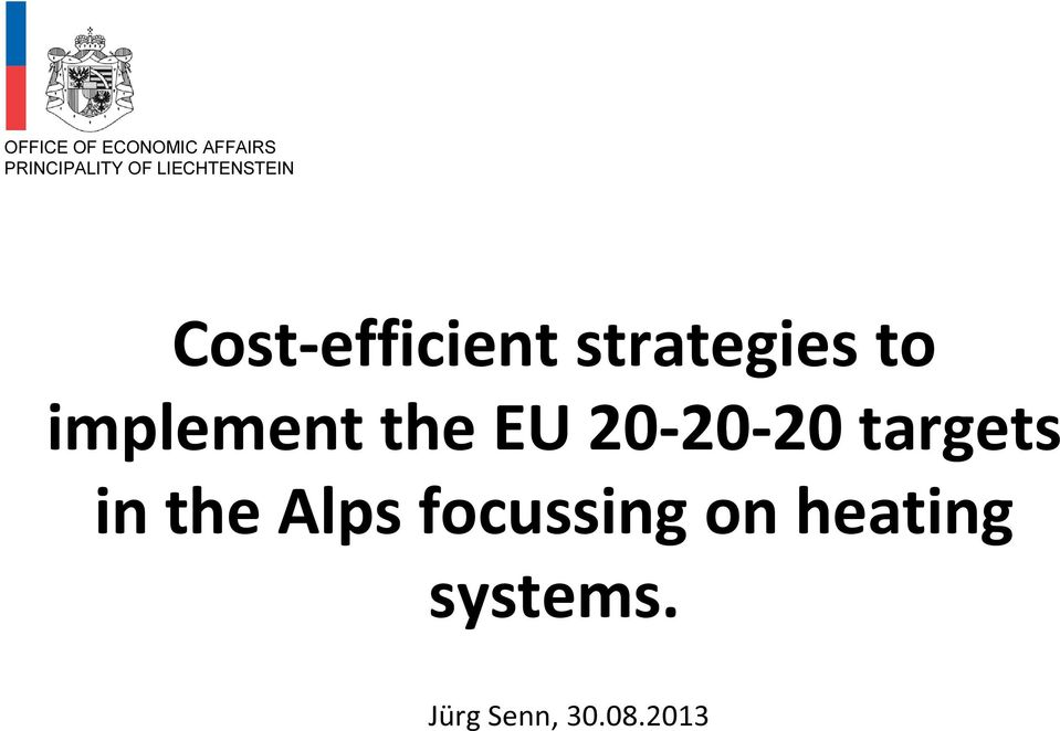 implement the EU 20-20-20 targets in the Alps