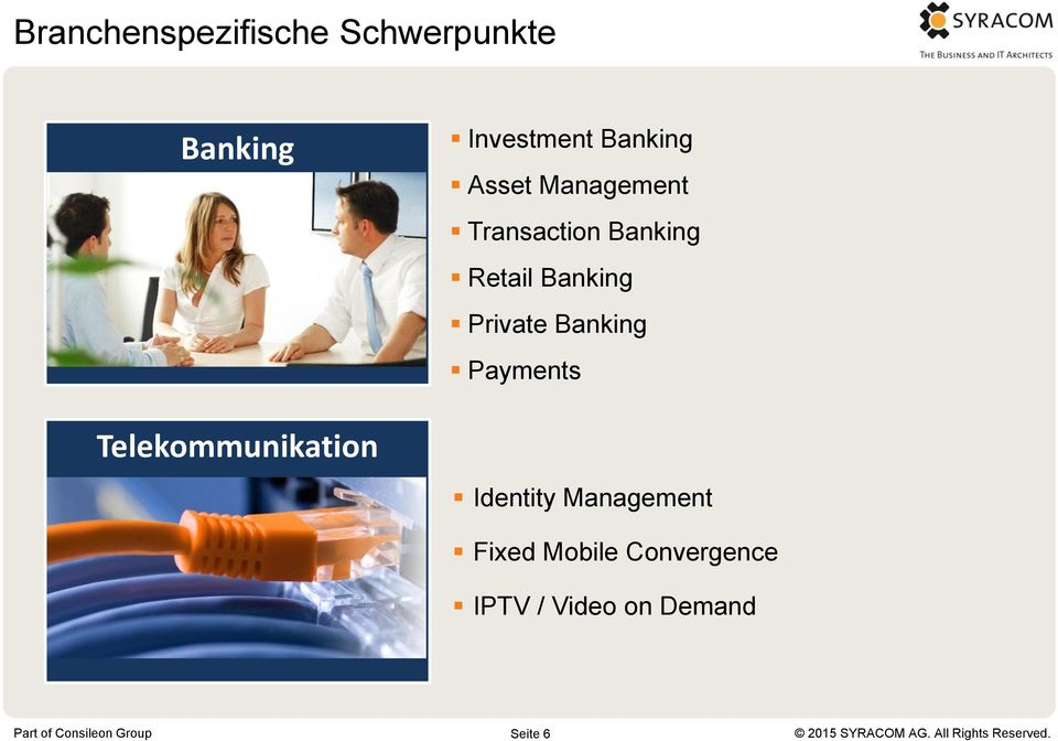 Banking Private Banking Payments Telekommunikation