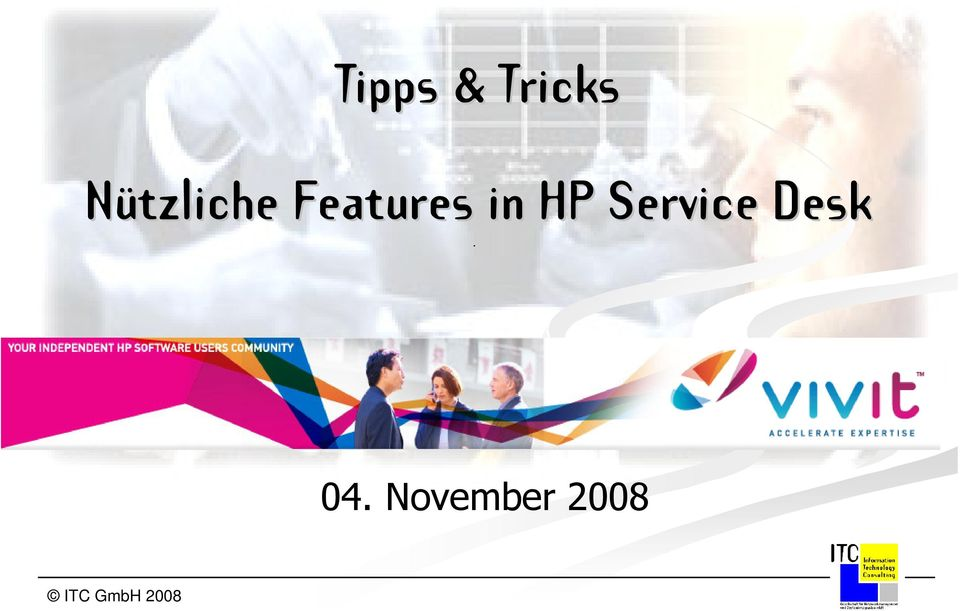 in HP Service Desk